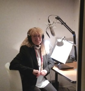 Mary Pope Osborne in the studio.