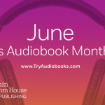 June is Audiobook Month Banner