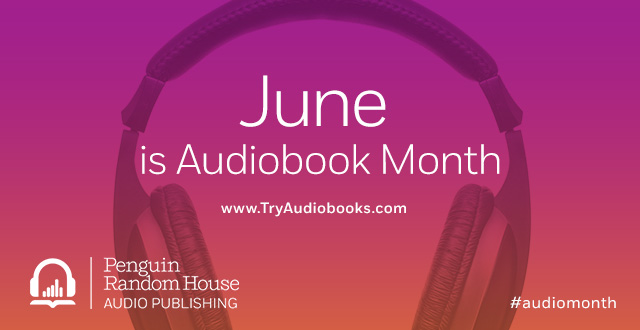 June is Audiobook Month Banner