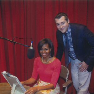 Dan Zitt and First Lady Michelle Obama