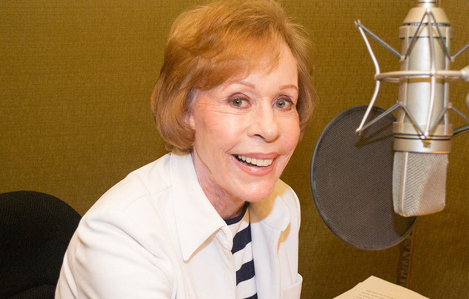 Carol Burnett in studio