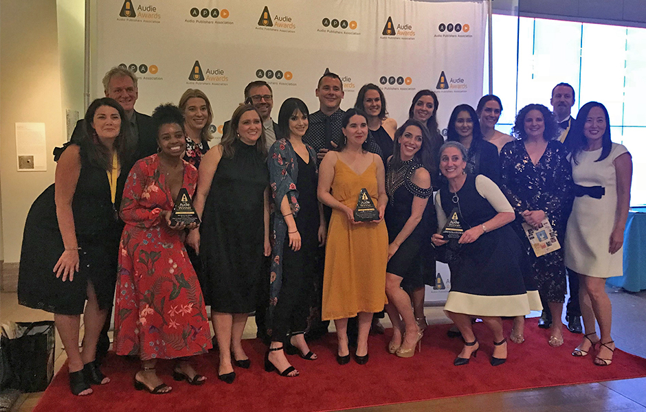 Staff at 2018 Audie Awards