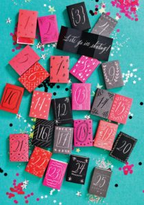 Matchbox Countdown Craft Project from The Gift of Calligraphy