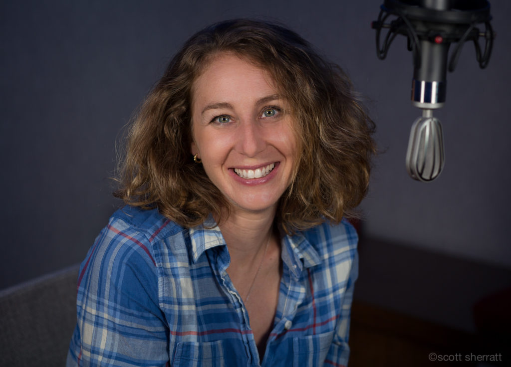 Jill Santopolo in the studio