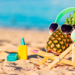 silly pineapple with sunglasses