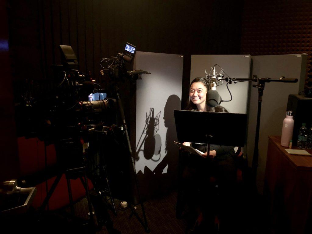 Chanel Miller in the studio