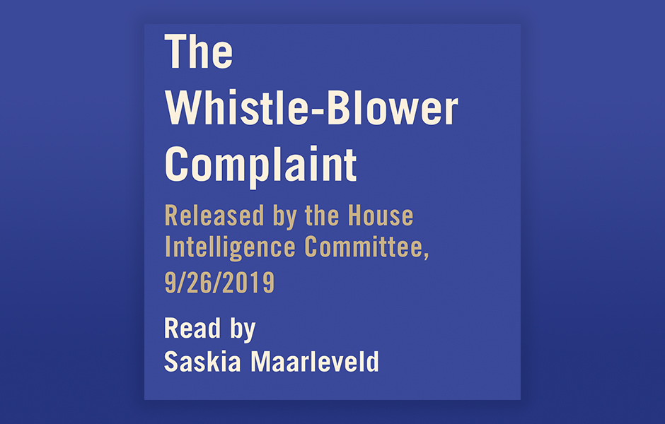 The Whistle-Blower Complaint