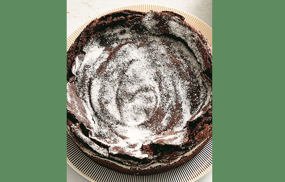 Try This Recipe: Crispy Chocolate Cake with Hazelnut and Sour Cream