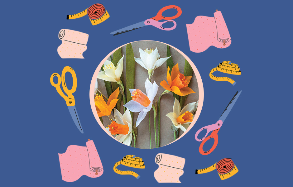 Listen and Craft Image: Make Crepe Paper Daffodils