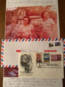 Photo of a Letter from Janet Somerville Featuring Photos of Martha Gellhorn