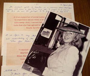 Photo of a Letter from Janet Somerville to Narrator Ellen Barkin