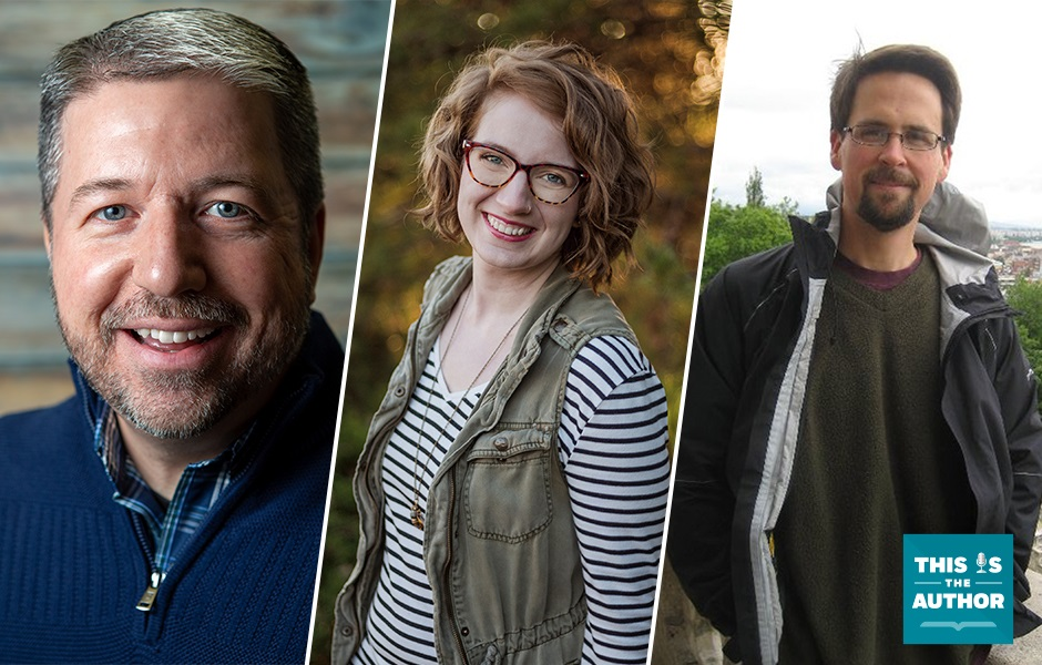 This Is the Author S6 E39 Image Featuring John Stange, Sarah J. Robinson, Jon M. Sweeney