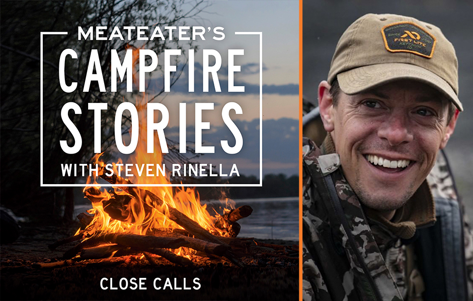 Image of MeatEater's Campfire Stories: Close Calls Cover and Steven Rinella