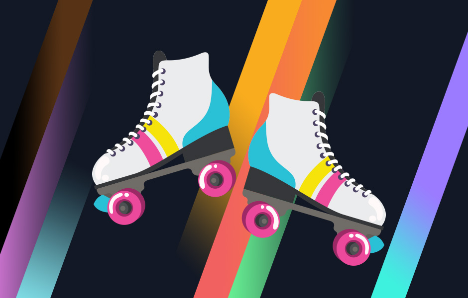 Image of Roller Skates to Celebrate Pride Month for Kids and Teens