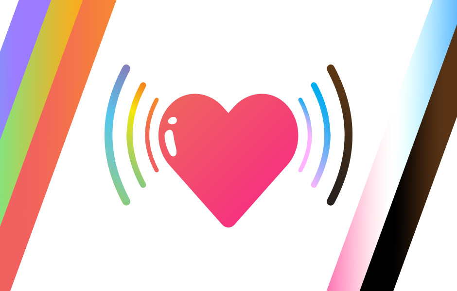 Image of Heart for Pride Month Rom Coms on Audio Post