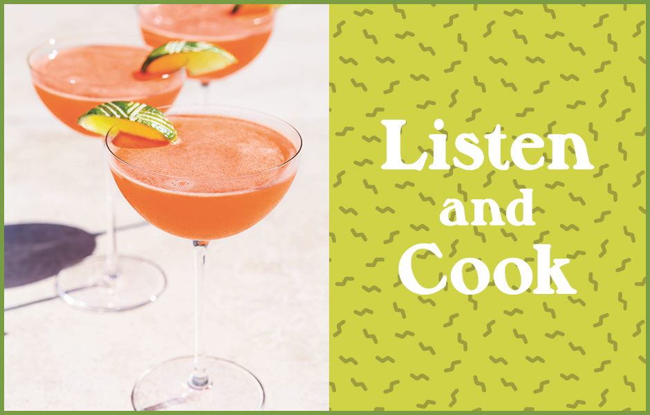 """Image of the """"Naked and Famous"""" Cocktail for the July 4 Weekend Edition of Listen and Cook"""