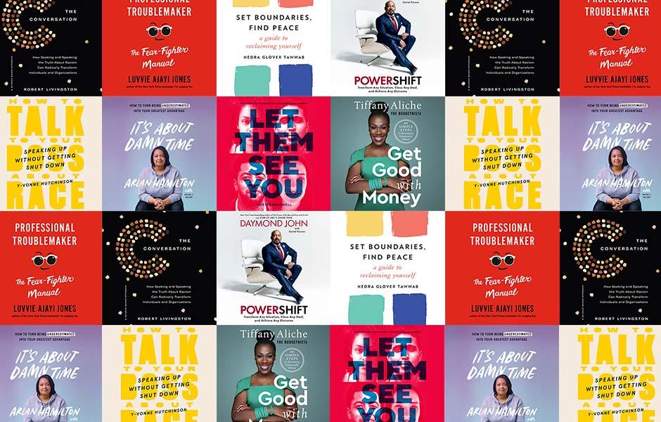 Collage of Covers Showing Audiobook Recommendations for National Black Business Month