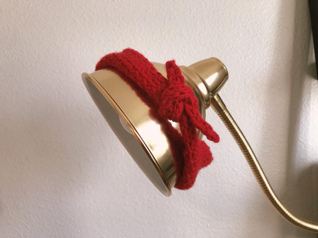 scrap yarn top knot