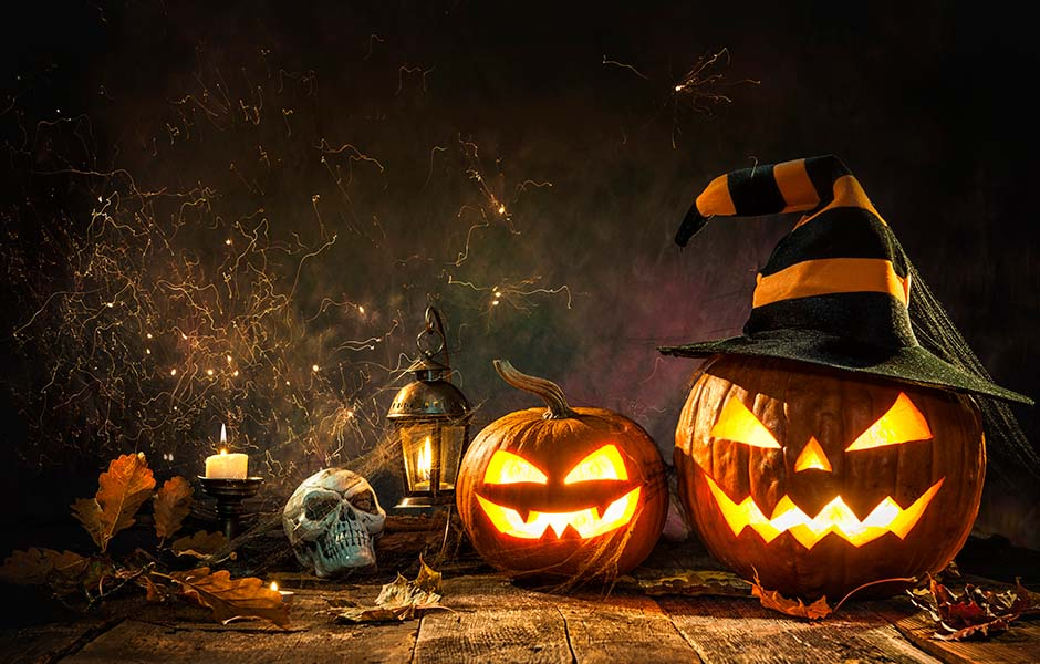 Image of Spooky Jack-o-Lanterns and Halloween Theme for Scary Audiobooks for Horror Fans Post